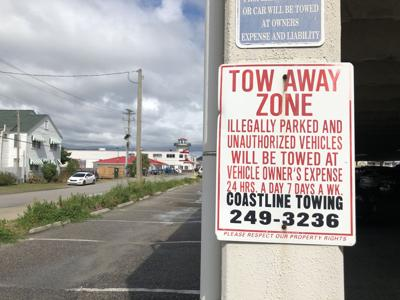Cherry Grove tow sign