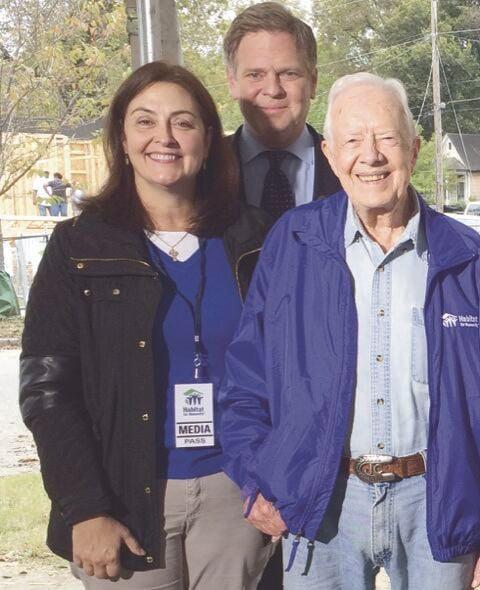 Janice McDonald and Jimmy Carter