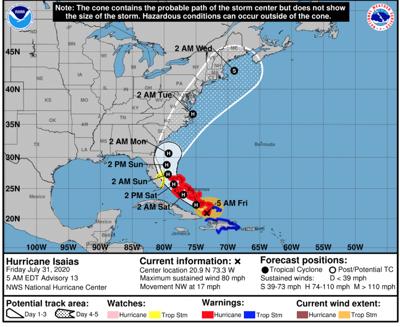 Hurricane Isaias 7-31 8 a.m.