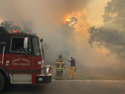 Loris area fire