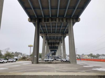 SCDOT works on the Highway 17 bridge over the Intracoastal Waterway