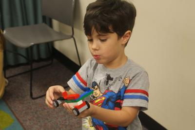 A Creation He Made Using Lego Blocks At Chapin Memorial Library S Final Build Event Of The Summer 2018 On Saay Aug 11 In Myrtle Beach