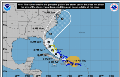 Tropical Storm Isaias July 30 11:30 a.m.