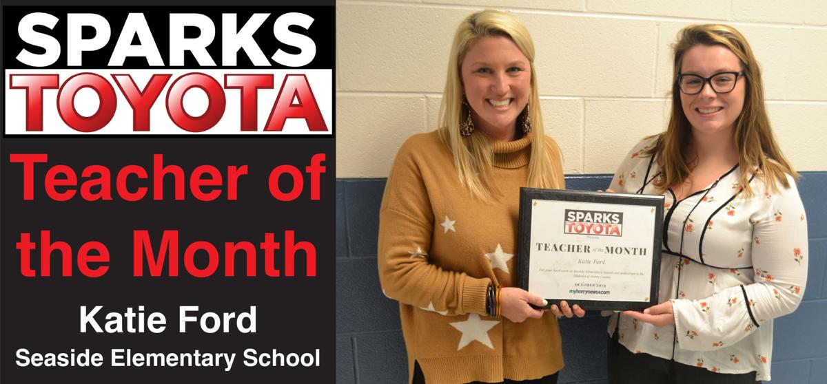 Ford named Sparks Toyota Teacher of the Month for October