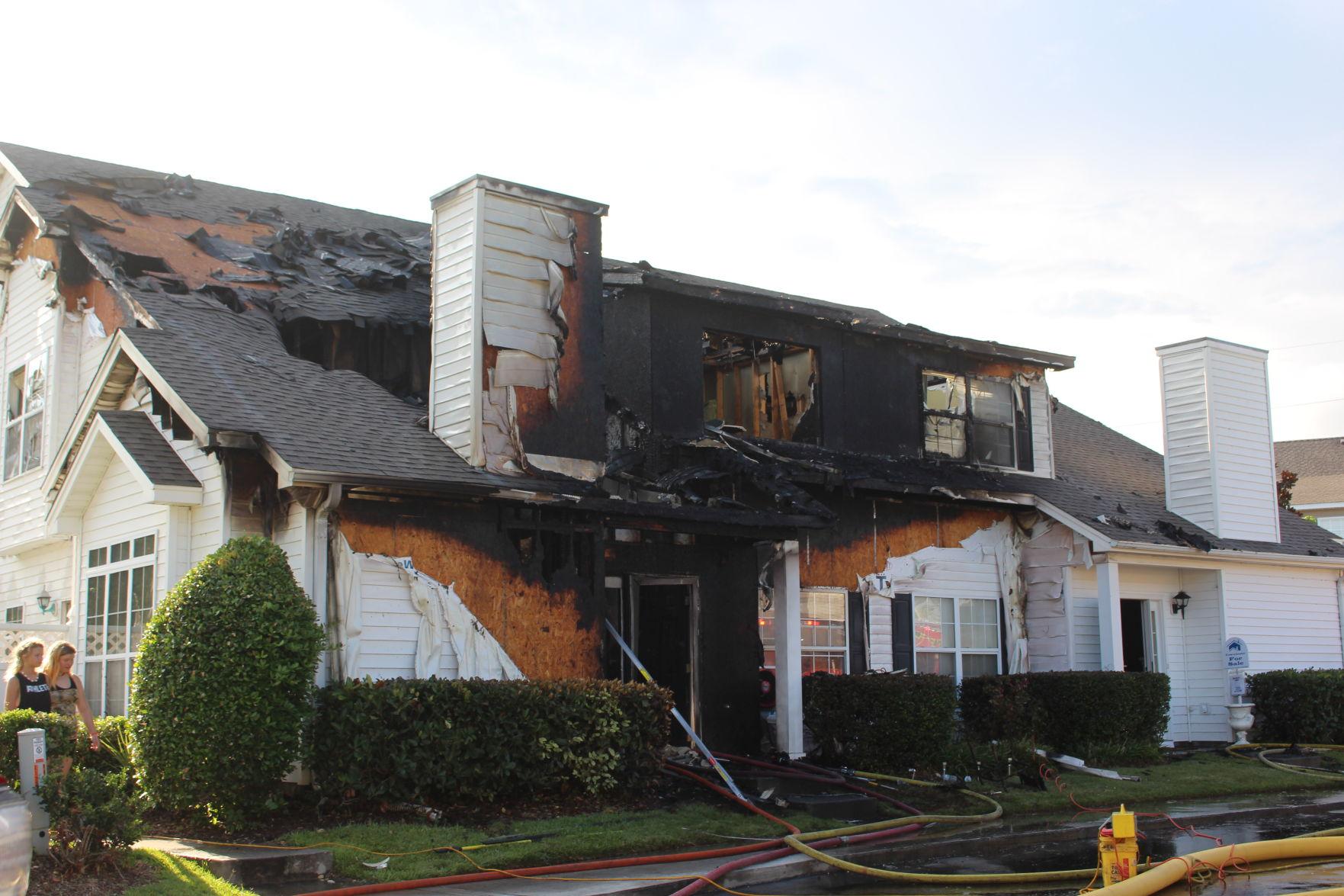 Crews battle residential fire at multi-unit building