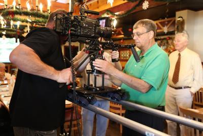 Filming 'A Carolina Christmans'