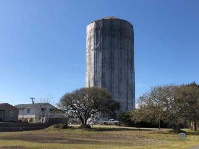 Cherry Grove water tower work