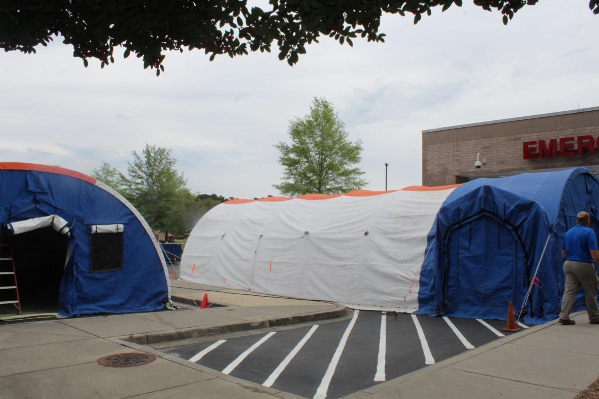 CMC triage tents