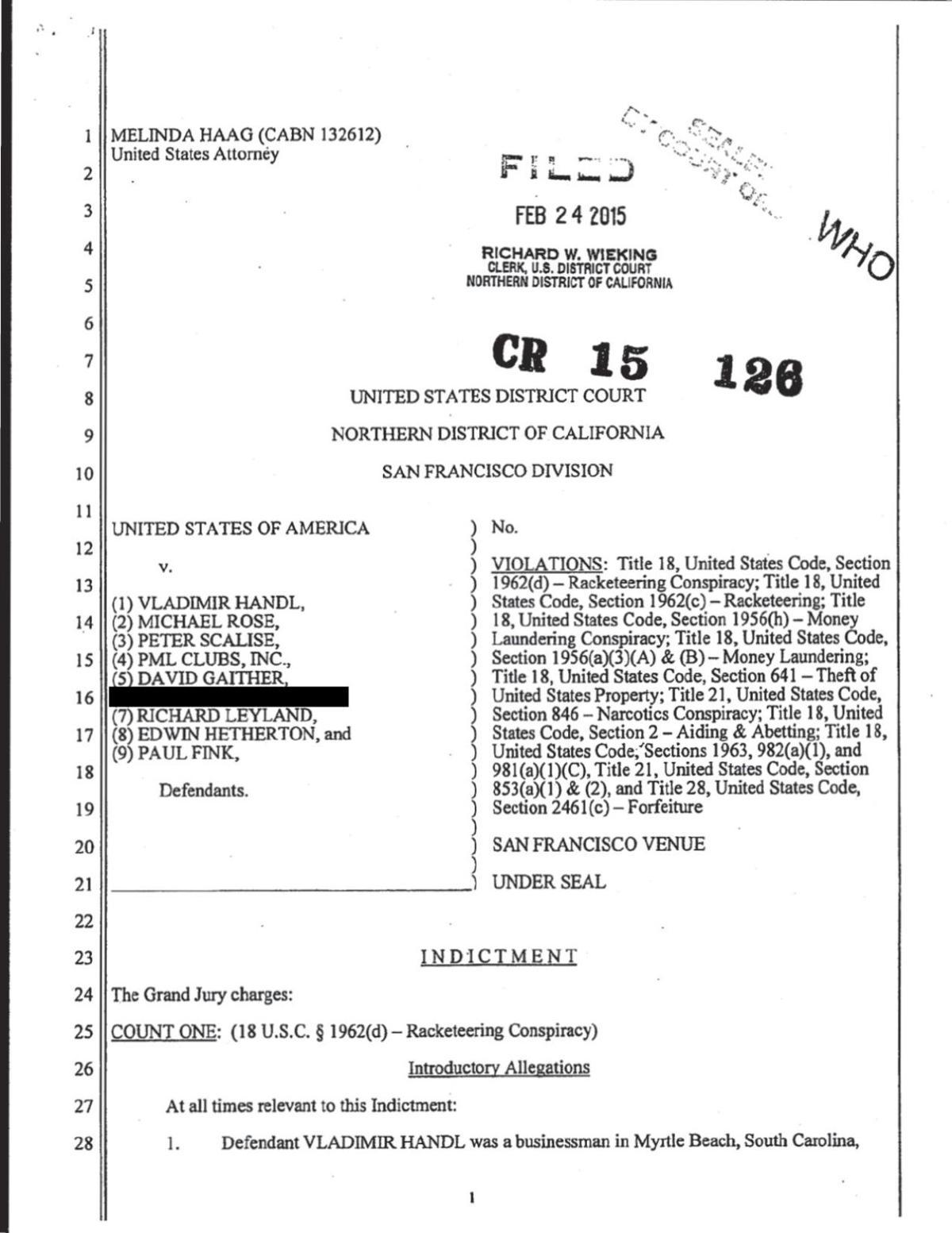 Federal indictment | | myhorrynews com