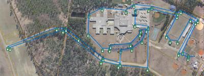 Loris Bog-Off 5K Map