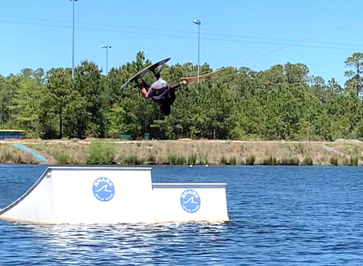 Ethan Bellamy wakeboarding