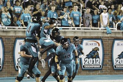 CCU celebration after first touchdown