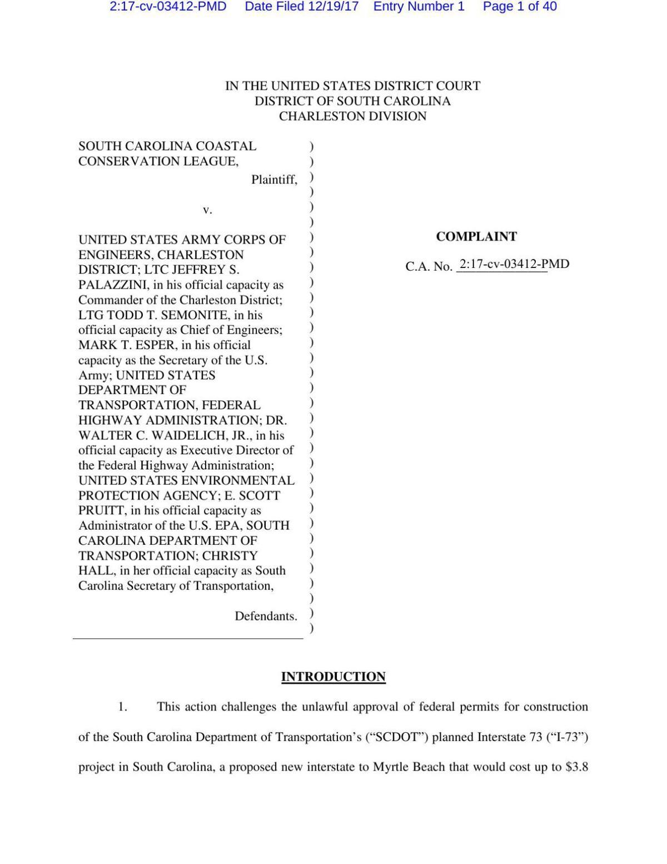 I-73 lawsuit