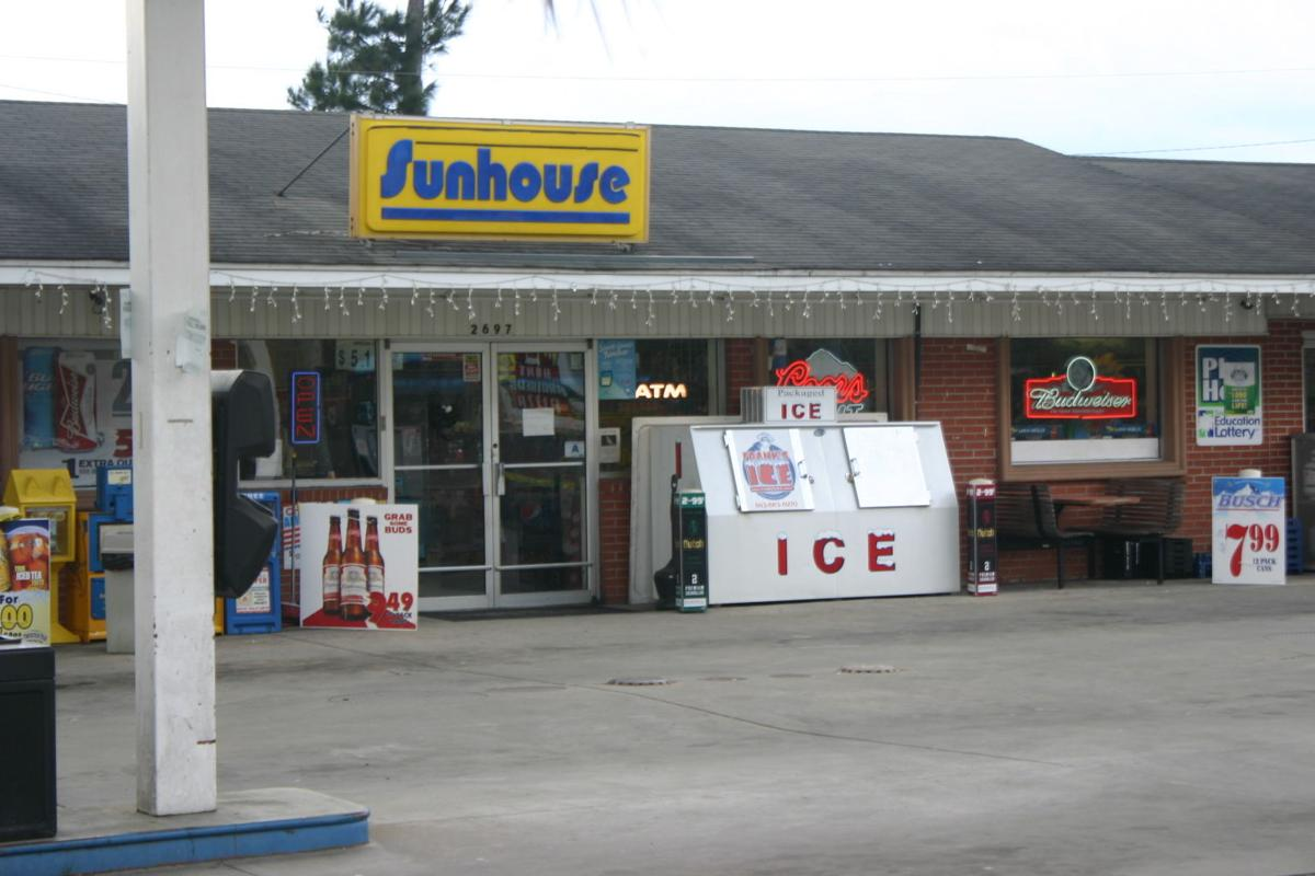 Sunhouse store at the intersection of Cultra Road and Oak Street