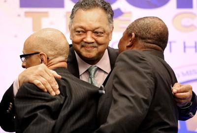 Jesse Jackson urges ministers to help with voter registration, gun control and increased Medicaid funding