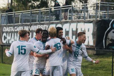CCU Men's Soccer Celebration ILB