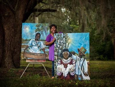 """Black Southern Belles"" at Brookgreen Gardens"