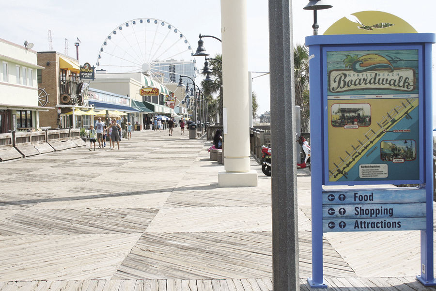 The Myrtle Beach Boardwalk Attracts Millions Of Visitors Each Year For An Oceanside Experience Shops And Restaurants