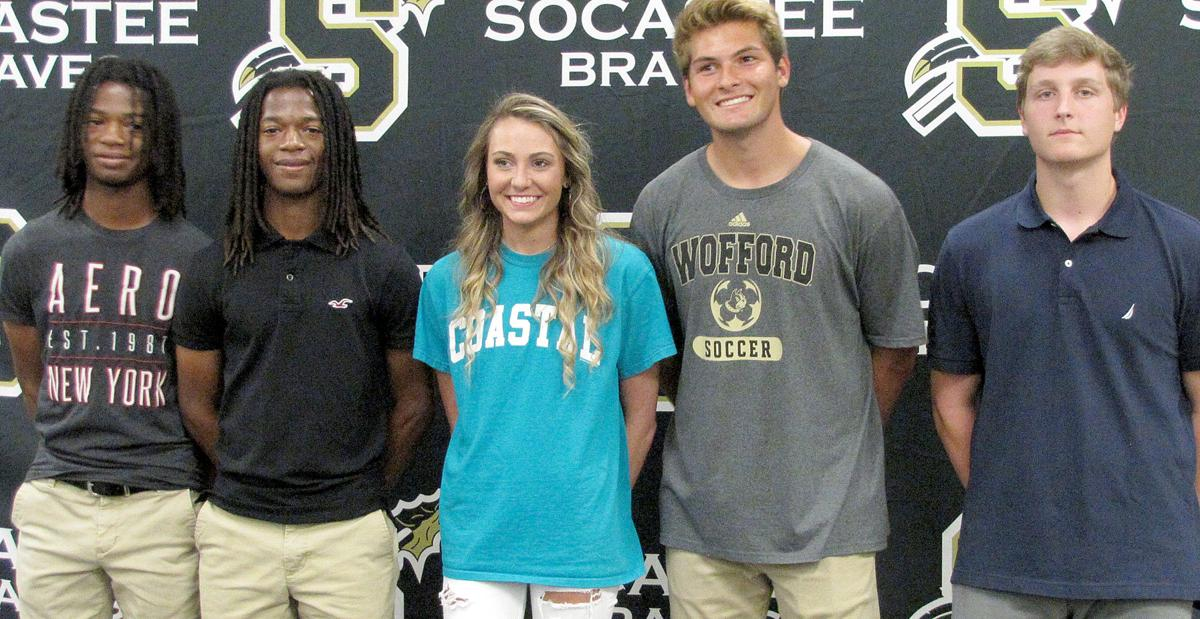 Five Socastee athletes sign their letter of intent