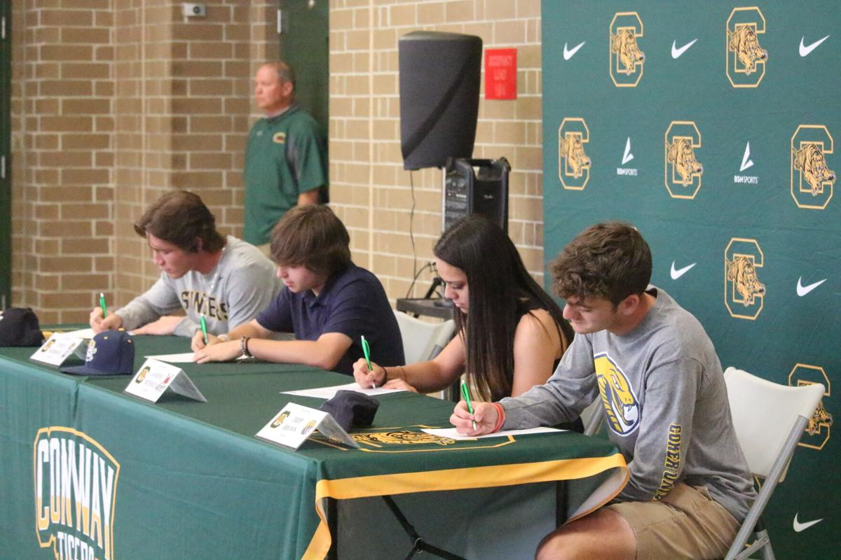 Conway athletes sign national letters of intent