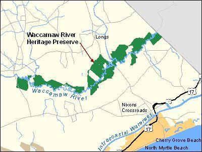 Waccamaw Heritage Preserve Map