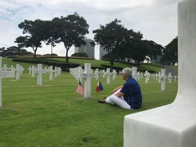Touzel at graveside