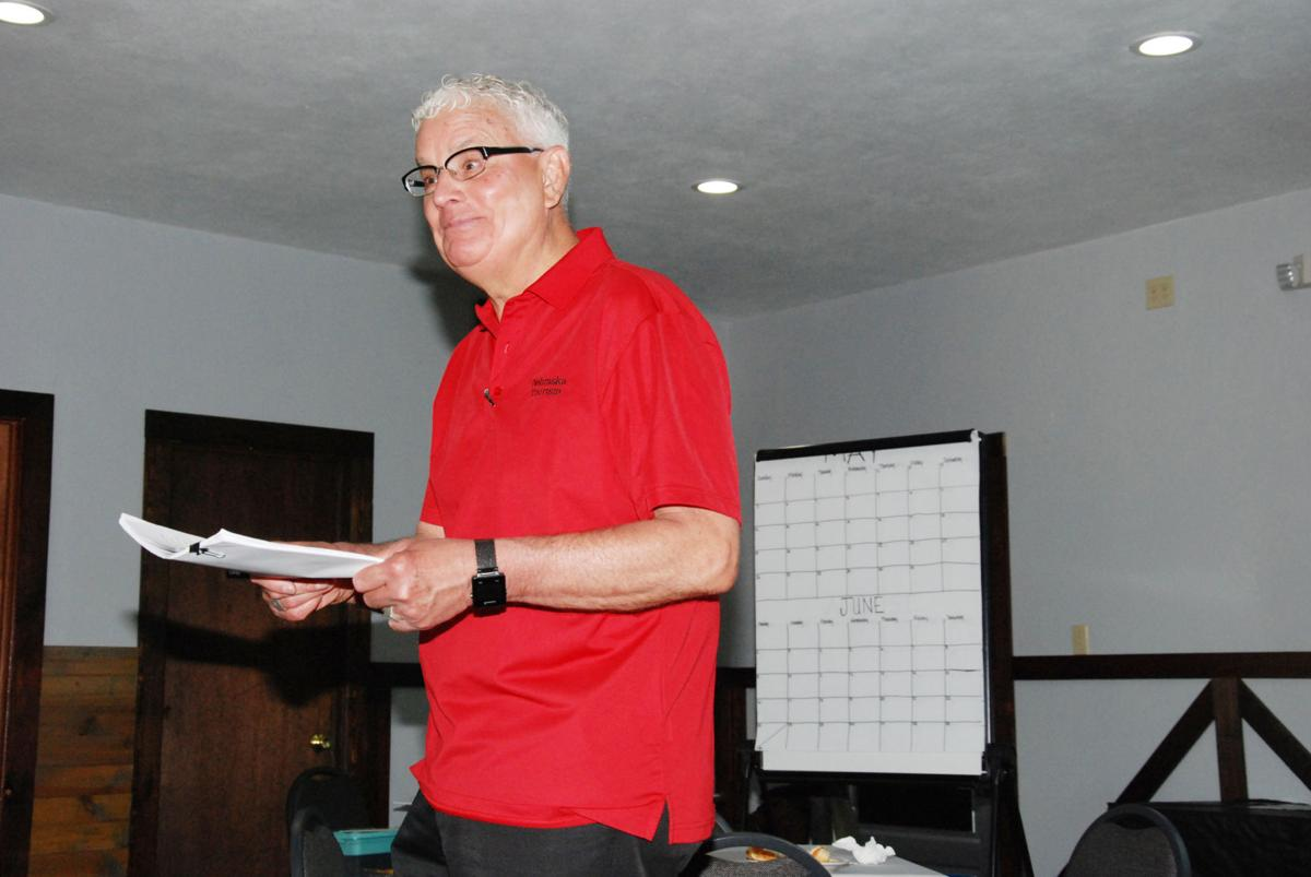 Nebraska Tourism Director John Ricks speaks at Niobrara