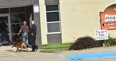 Bomb Dog Sweeps School