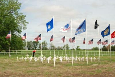 Flags fly at Greenwood Cemetery