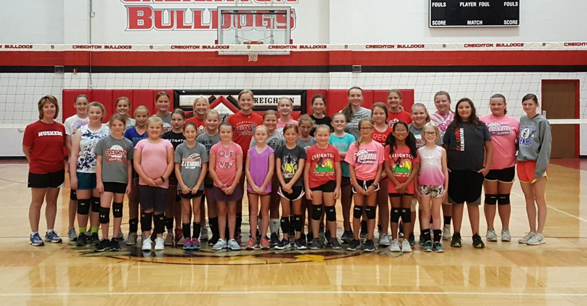 Elementary and junior high volleyball camp