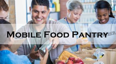 Mobile food pantry in Plainview
