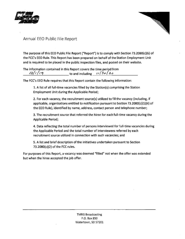 2020 EEO Report