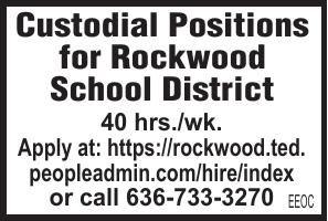 Rockwood School District Custodial Positions