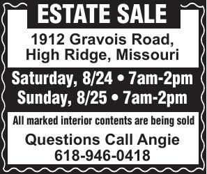 Angie Timmerman Estate Sale