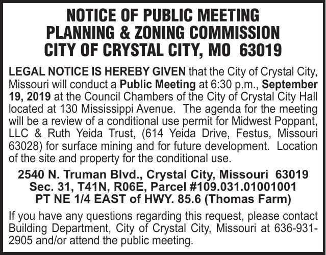 City of Crystal City PZ Midwest Poppant