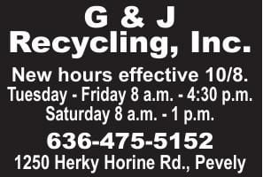 G&J Hauling New Hours
