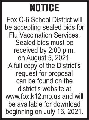Fox C-6 School District Flu Vaccination Services