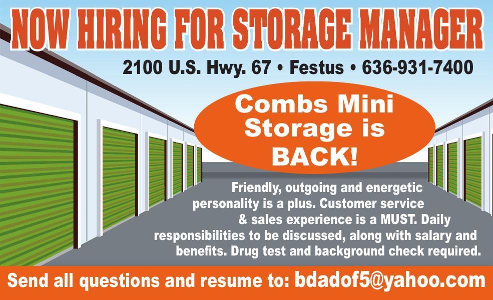 Combs Mini Storage HW Storage Manager
