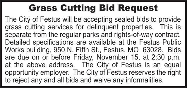 City of Festus Grass Cutting Delinquent