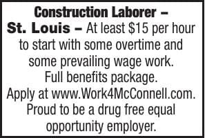 McConnell and Associates Construction Laborer STL