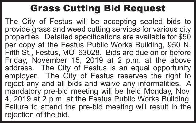 City of Festus Grass Cutting