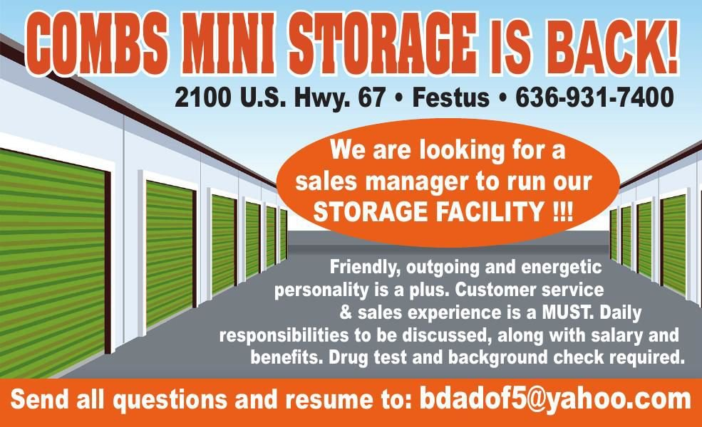 Combs Mini Storage | Moving & Storage Services