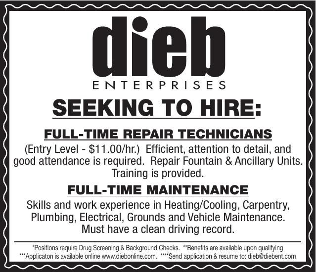 Dieb Enterprises 2 Positions