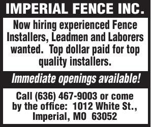 Imperial Fence Experienced Fence Installer
