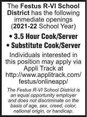 Festus R-6 School Cook-Server