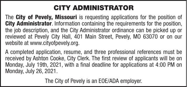 City of Pevely City Administrator