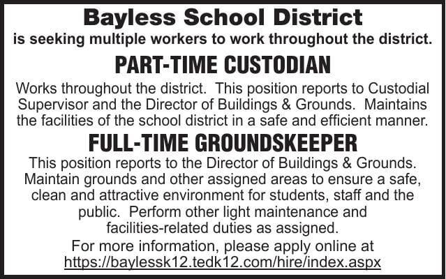 Bayless School District Custodian Groundskeeper