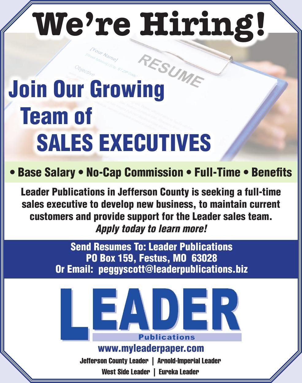We're Hiring Sales Executive