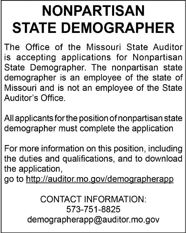 Missouri Press State of MO Demographer