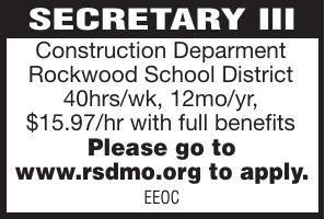 Rockwood School District Secretary III
